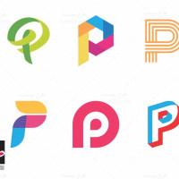 طرح وکتور لوگو های آماده حرف پ (P)