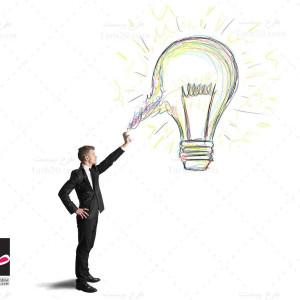 تصویر با کیفیت لامپ ایده و خلاقیت