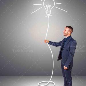عکس با کیفیت و استوک لامپ و خلاقیت