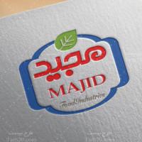 طرح لوگو لایه باز صنایع غذایی مجید