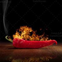 تصویر با کیفیت از فلفل قرمز آتشین