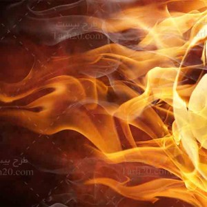 تصویر با کیفیت توپ فوتبال آتشین