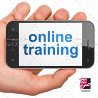 تصویر استوک گوشی موبایل در دست برای آموزش آنلاین