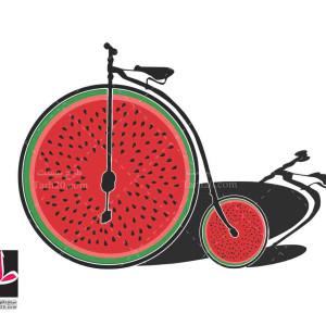 طرح وکتور دوچرخه از هندوانه یلدا