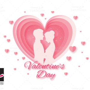 وکتور قلب و عشق روز ولنتاین
