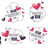 وکتور قلب عاشقانه روز ولنتاین