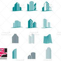 مجموعه وکتور و لوگو مشاور املاک و ساختمان
