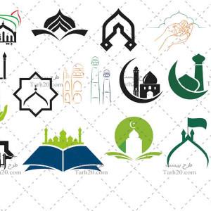 مجموعه لوگو و وکتور مسجد و هیئت