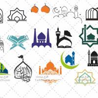 طرح های وکتور و لوگوی مسجد و هیئت