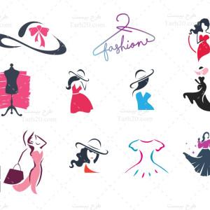 مجموعه طرح لوگو فروشگاه پوشاک زنانه