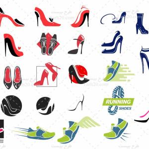 مجموعه طرح لوگو و وکتور کفش زنانه