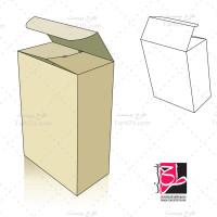 طرح دایکات و بسته بندی جعبه مستطیلی