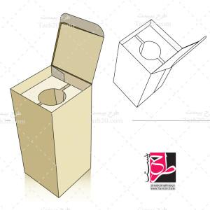 طرح دایکات و بسته بندی جعبه عمودی