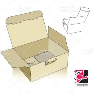 طرح دایکات و بسته بندی جعبه مکعبی