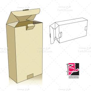 طرح دایکات جعبه مکعب مستطیل عمودی