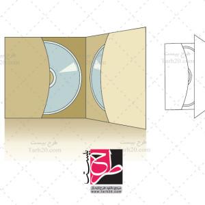 فایل لایه باز کورل پاکت CD