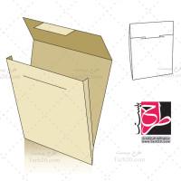دانلود طرح لایه باز قالب پاکت نامه و کارت پستال