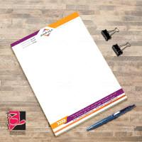 طرح فتوشاپ لایه باز سربرگ اداری شرکت