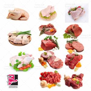 مجموعه عکس بسیار با کیفیت گوشت و مرغ