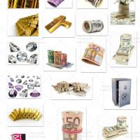 مجموعه عکس با کیفیت ارز، پول و الماس