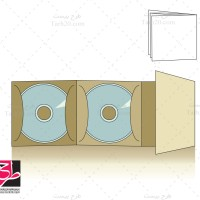 طرح قالب پاکت دوتایی سی دی CD