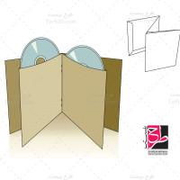 طرح دایکات بسته بندی پاکت دوتایی DVD