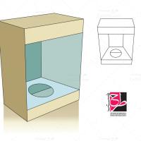 طرح کورل قالب دایکات جعبه بسته بندی