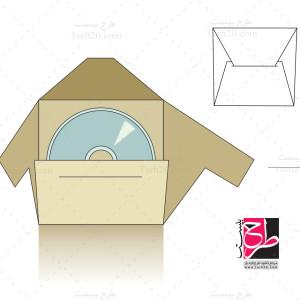 طرح بسته بندی و قالب پاکت CD