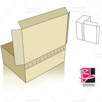 لایه باز طرح قالب دایکات جعبه مکعبی