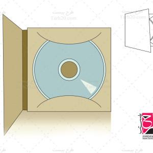 دانلود طرح قالب پاکت DVD (برش و خط تا)