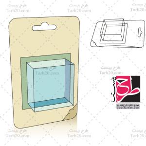 لایه باز طرح قالب بسته بندی آویزی