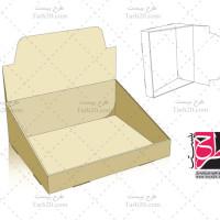 فایل کورل قالب دایکات جعبه بسته بندی