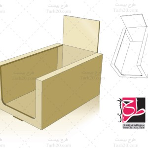 دانلود طرح لایه باز قالب برش و خط تا جعبه بسته بندی