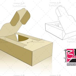 لایه باز طرح قالب دایکات جعبه بسته بندی