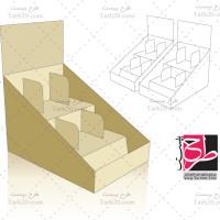 لایه باز طرح قالب دایکات جعبه استند بسته بندی