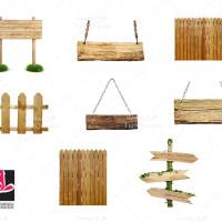 عکس های با کیفیت تابلو و حصار چوبی