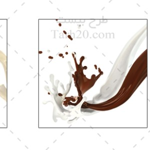 دانلود تصاویر استوک شیر و شکلات