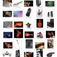 دانلود مجموعه تصاویر موزیک و آلات موسیقی