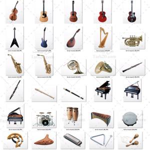 دانلود مجموعه تصاویر استوک آلات موسیقی