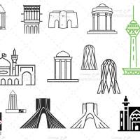 وکتور آثار باستانی معاصر ایران