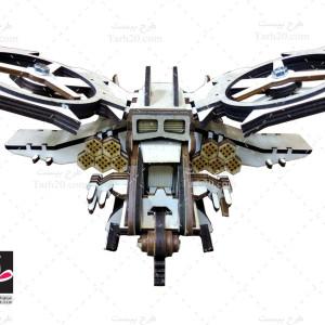 طرح جدید برش لیزر هواپیمای جنگی