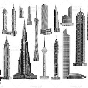 طرح وکتور برج های معروف جهان
