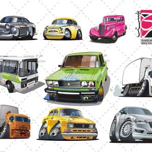 دانلود مجموعه وکتورهای خودرو و اتومبیل