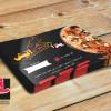 طرح کارت ویزیت لایه باز پیتزا فروشی