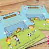 لایه باز تراکت رنگی مدرسه فوتبال کودکان