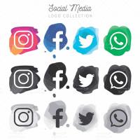 وکتور مدرن لوگو شبکه های اجتماعی
