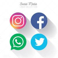 وکتور دایره ای لوگو شبکه های اجتماعی