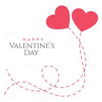 وکتور زیبای قلب مناسب روز ولنتاین