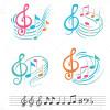 دانلود طرح وکتور انواع نت موسیقی