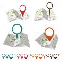 وکتور مکان روی نقشه و یا آدرس